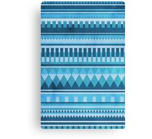 Blue Aztec Pattern Canvas Print