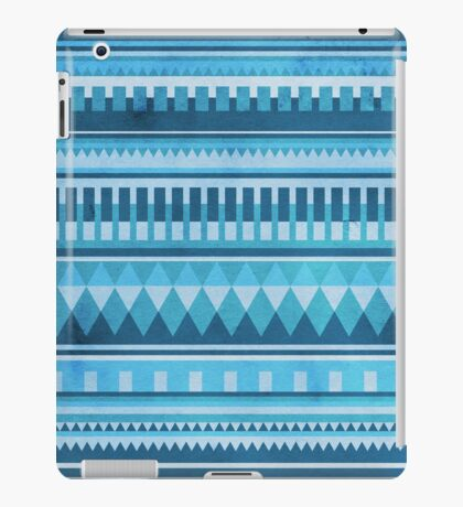 Blue Aztec Pattern iPad Case/Skin