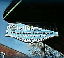 A Civil Affair Shop Sign by Jane Neill-Hancock