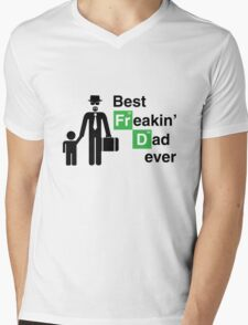 Best Freakin' Dad Ever (Breaking Bad) Mens V-Neck T-Shirt
