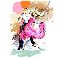 Party girl and dance Photographic Print