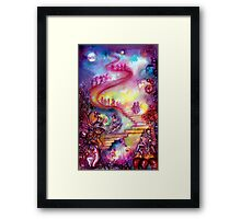 GARDEN OF THE LOST SHADOWS / MYSTIC STAIRS  Framed Print