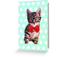 Hipster Kitty Greeting Card