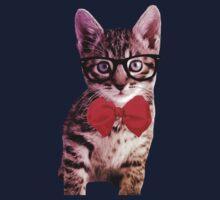 Hipster Kitty Kids Tee