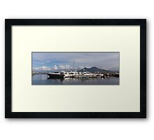 Vesuvius and the Boats Framed Print