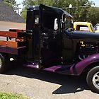 Purple Chevy Pickup Truck by Ryan Eberhart