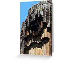 Close up of Sawn Rocks, Narrabri, NSW Greeting Card