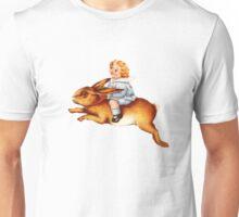 Vintage Rabbit girl Unisex T-Shirt