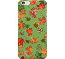 Hand drawn fall leaves iPhone Case/Skin