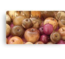 Little Wooden Apples Canvas Print