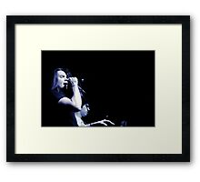Ronnie Winter - Red Jumpsuit Apparatus Framed Print