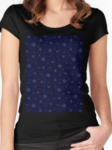 SNOWFLAKES Women's Fitted Scoop T-Shirt