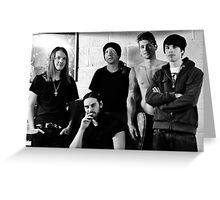 Red Jumpsuit Apparatus Greeting Card