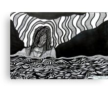 242 - STREAM OF CONSCIOUSNESS - DAVE EDWARDS - INK - 2013 Canvas Print
