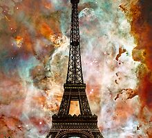 The Eiffel Tower - Paris France Art By Sharon Cummings by Sharon Cummings