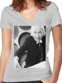William Hartnell Women's Fitted V-Neck T-Shirt