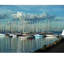 A Lazy Day on the Bay at Williamstown, a Safe Harbour. Vic, Aust* Photographic Print