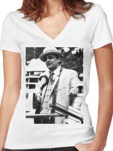 Sylvester McCoy Women's Fitted V-Neck T-Shirt