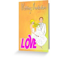 A Wedding Invitation from the Bride & Groom Greeting Card