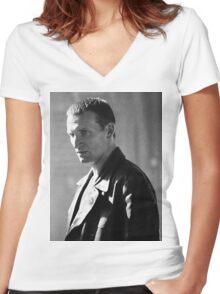Christopher Eccleston Women's Fitted V-Neck T-Shirt