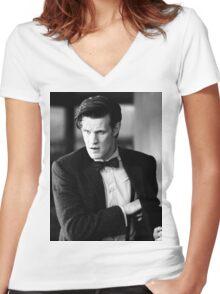 Matt Smith Women's Fitted V-Neck T-Shirt