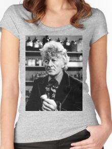 Jon Pertwee Women's Fitted Scoop T-Shirt
