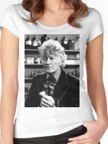 Jon Pertwee Women's Fitted Scoop T-Shirt