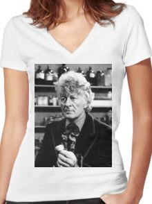 Jon Pertwee Women's Fitted V-Neck T-Shirt