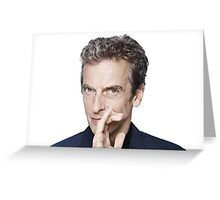 Doctor Who - Peter Capaldi Twelveth Doctor Greeting Card
