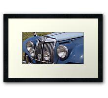 MG Classic Car Framed Print