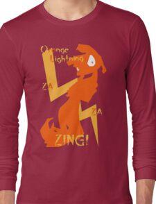 Orange Lightning Long Sleeve T-Shirt