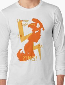 Orange Lightning Long Sleeve T-Shirt