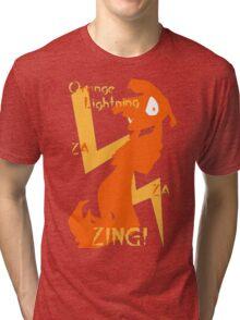 Orange Lightning Tri-blend T-Shirt