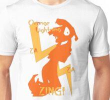 Orange Lightning Unisex T-Shirt
