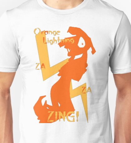 Orange Lightning Unisex T-Shirt