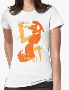 Orange Lightning Womens Fitted T-Shirt