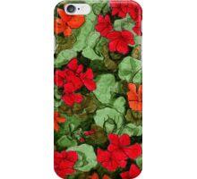 Garden cress floral pattern iPhone Case/Skin