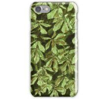 Chesnut leave pattern iPhone Case/Skin