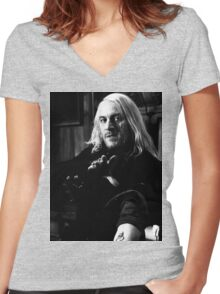 Lucius Malfoy Women's Fitted V-Neck T-Shirt