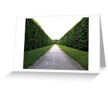 Green symmetry Greeting Card