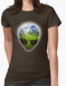 alien planet Womens Fitted T-Shirt