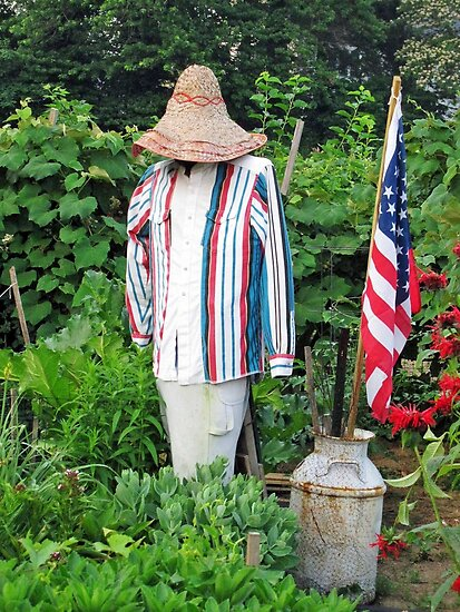 The Patriotic Scarecrow by Bine
