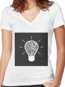House a bulb Women's Fitted V-Neck T-Shirt