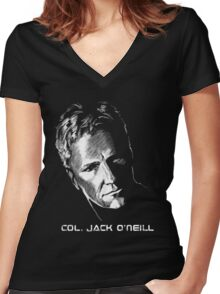Jack O'Neil Stargate Women's Fitted V-Neck T-Shirt