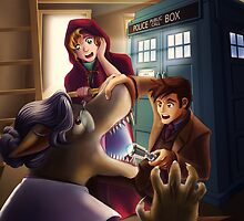 Doctor Who and Red Riding Hood (iPad Case) by tushantin