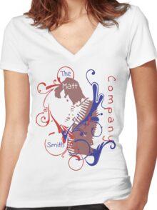 The Matt Smith Company T-Shirt Officiel V2 Women's Fitted V-Neck T-Shirt