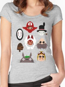 ghibli chraracters ~ 1 Women's Fitted Scoop T-Shirt
