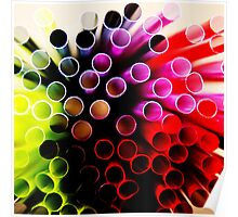 Multi-coloured straw art Poster
