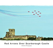Red Arrows Over Scarborough Castle by Isobel Embleton