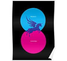 Pegacorn Venn Diagram (Pegasus + Unicorn) Poster